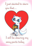 Zoid's Funny Cats- Valentine's day card by KingZoidLord