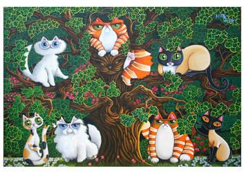 The Feline Family Tree by KingZoidLord