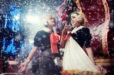 Kagamine Twin - Christmas Snow by vaxzone
