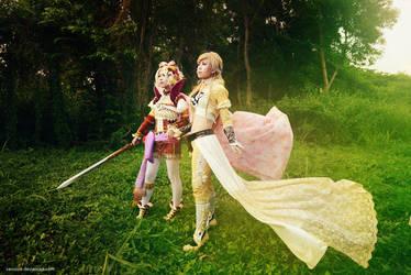 Final Fantasy VI -  Celes n Tina by vaxzone