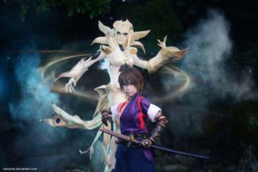 Shadow Hearts - Kurando's Moon Goddess by vaxzone