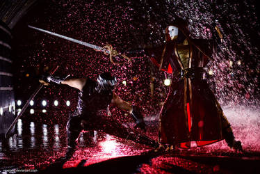 Ninja Gaiden 3: Ryu fighting Regent of the Mask by vaxzone