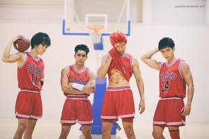 Slam Dunk -  Team of Problematic Children by vaxzone