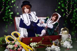 Rozen Maiden - Suiseiseki x Souseiseki by vaxzone