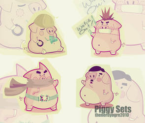 Piggy Sets by thenerdyogre