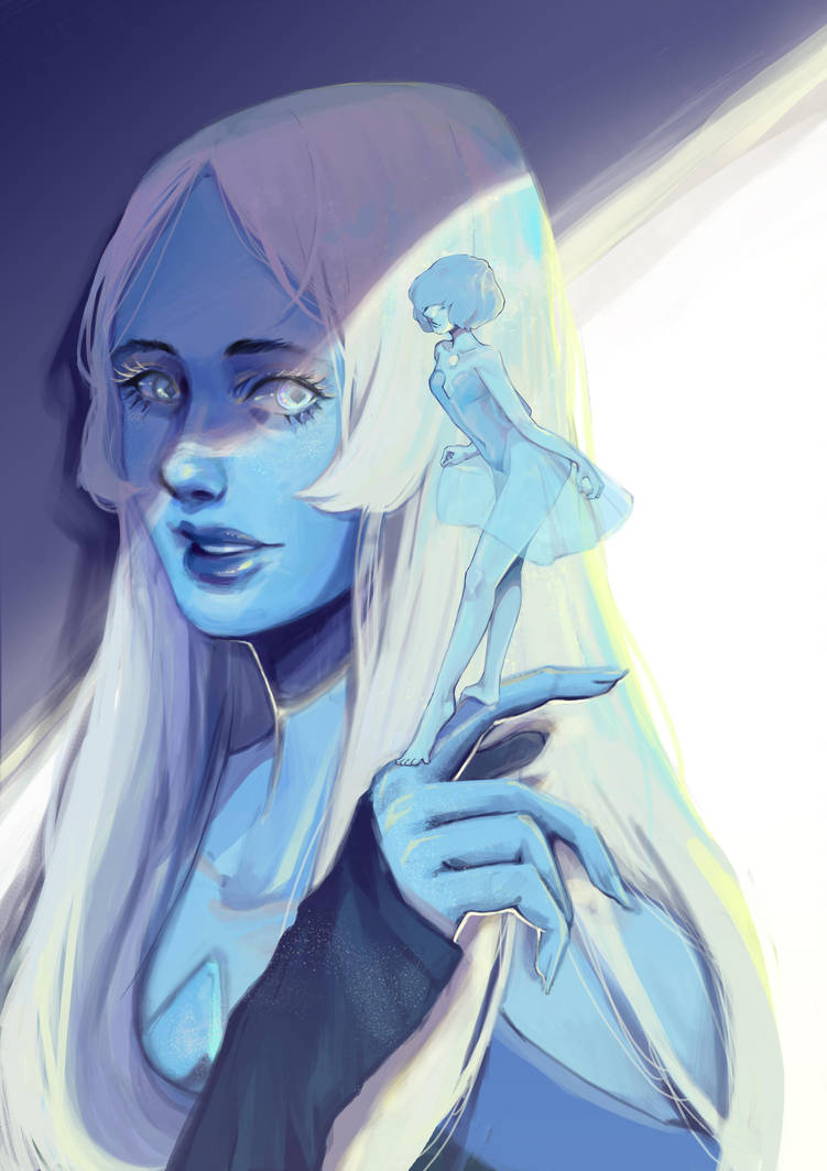 Blue Diamond and Blue Pearl from Steven Universe