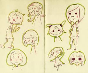 Girls sketch by CeliaPanda