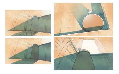 Une vie de chien - Color concept 02 by CeliaPanda