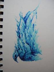 Blue Flames by Kittifizz