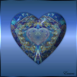 Blue Valentine Heart by Escara40