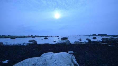 Melancholic coastline by N-o-B