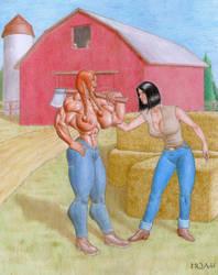 Farm Girl 2 by hqadd