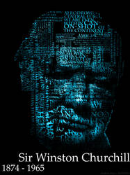 Sir Winston Churchill Typographic Portrait by andrew-payn