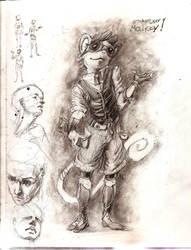 Steampunky Monky. Pencils by GatoDelCielo