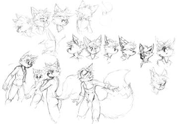 Body and neck sketches for a fox by GatoDelCielo