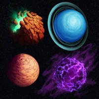 fantasy planets by Syncrasis