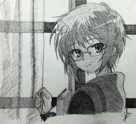 Yuki Nagato ver. Disappearance by Izham-ZK9