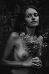 Holding Flowers by U-ni-corn