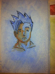 Water color with salt and pen test by Dalin98Zero