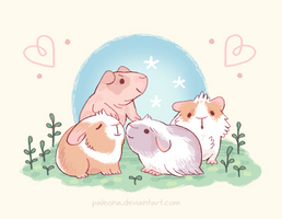 Guinea pets for Sproutpaw by Paleona