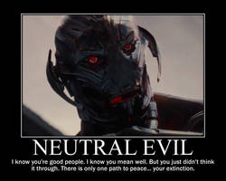 Neutral Evil Ultron by 4thehorde