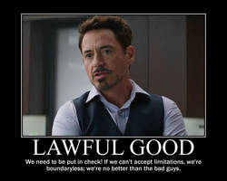 Lawful Good Tony Stark by 4thehorde