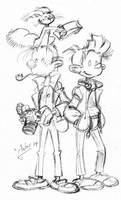 Spirou and Fantasio sketch by xAndyLG