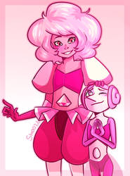 Pink Diamond and Pearl by Smoozii