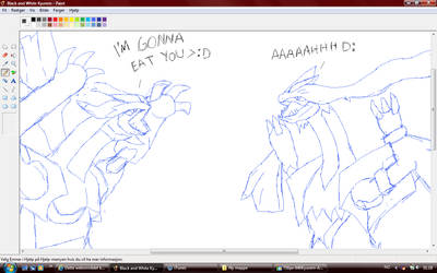 Black and White Kyurem WIP by Malla123
