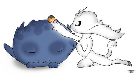 Ori and Gumo by TheFluffParticle