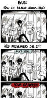 Randomness Is Fun: Bus by evekomix