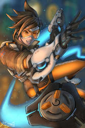 Overwatch - Tracer (Lena Oxton) by Kasa-Kabute