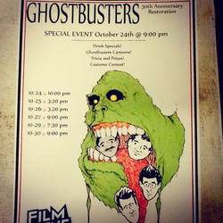 Ghostbusters 30th Anniversary poster for FilmScene by gomezvsrufio