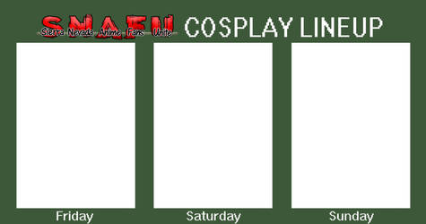 Free To Use Snafucon Lineup Template By Hidan Rox 666 On Deviantart