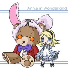 Annie in Wonderland by littleredren