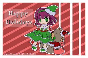 Annie Happy Holidays by littleredren