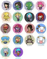 League of Legends Buttons by littleredren