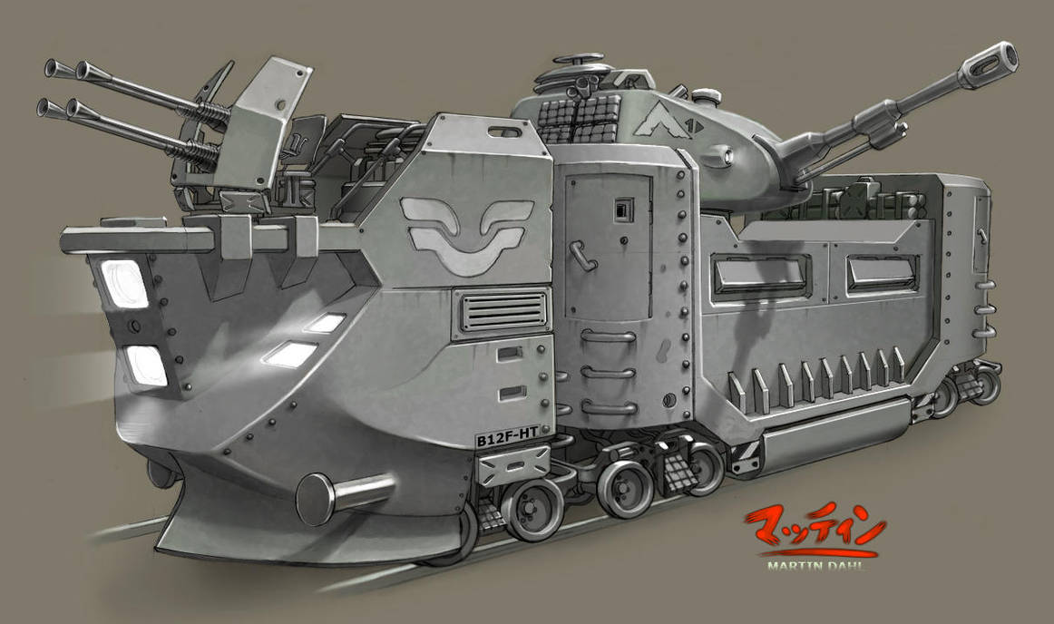 Armored train by kordal