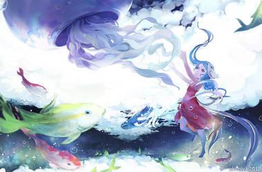 swimming sky by Akimiya