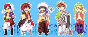 Free! Iwatori Swim Club Stickers by Akimiya