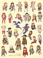 Fire Emblem: Awakening Stickers by Akimiya