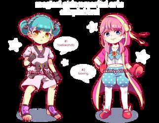 magical girls x martial arts adoptables (OPEN) by Akimiya