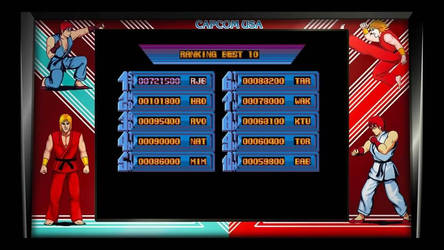 My high score for Street Fighter by Loth-Eth