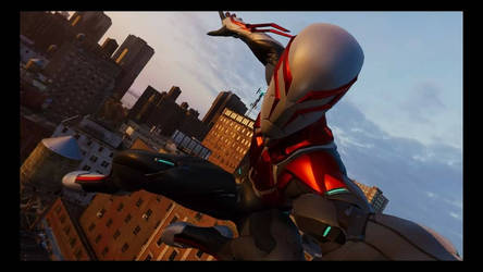 Spider-Man 2099 (White Suit) selfie by Loth-Eth
