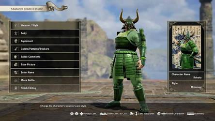 Robato, The Green Samurai by Loth-Eth