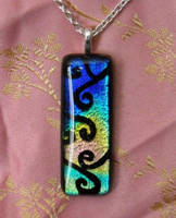 Rainbow Swirls Pendant by HoneyCatJewelry