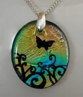 Butterfly Swirls Pendant by HoneyCatJewelry