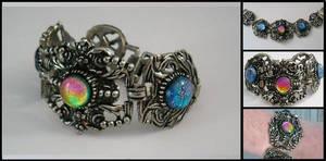 Victorian Bracelet with Twist by HoneyCatJewelry