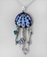 Color Change Jellyfish Pendant by HoneyCatJewelry