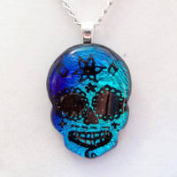 Fused Day of The Dead Skull by HoneyCatJewelry